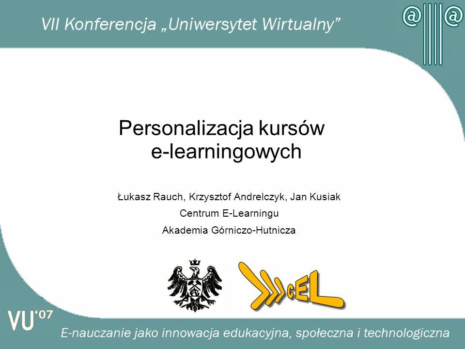 Personalizacja kursów e-learningowych