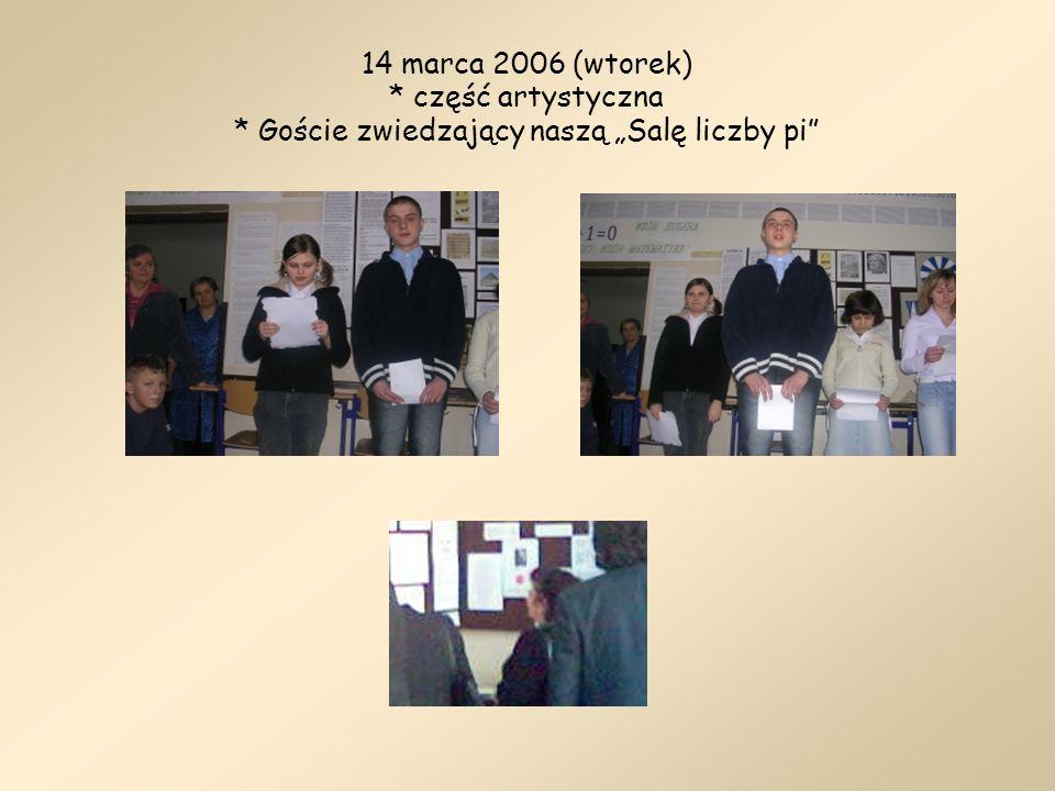 14 marca 2006 (wtorek). część artystyczna
