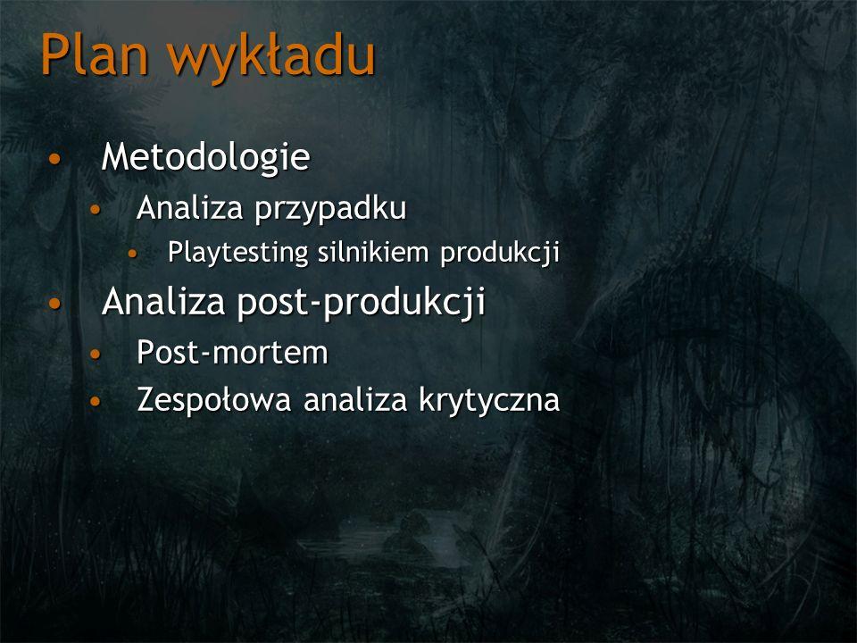 Plan wykładu Metodologie Analiza post-produkcji Analiza przypadku