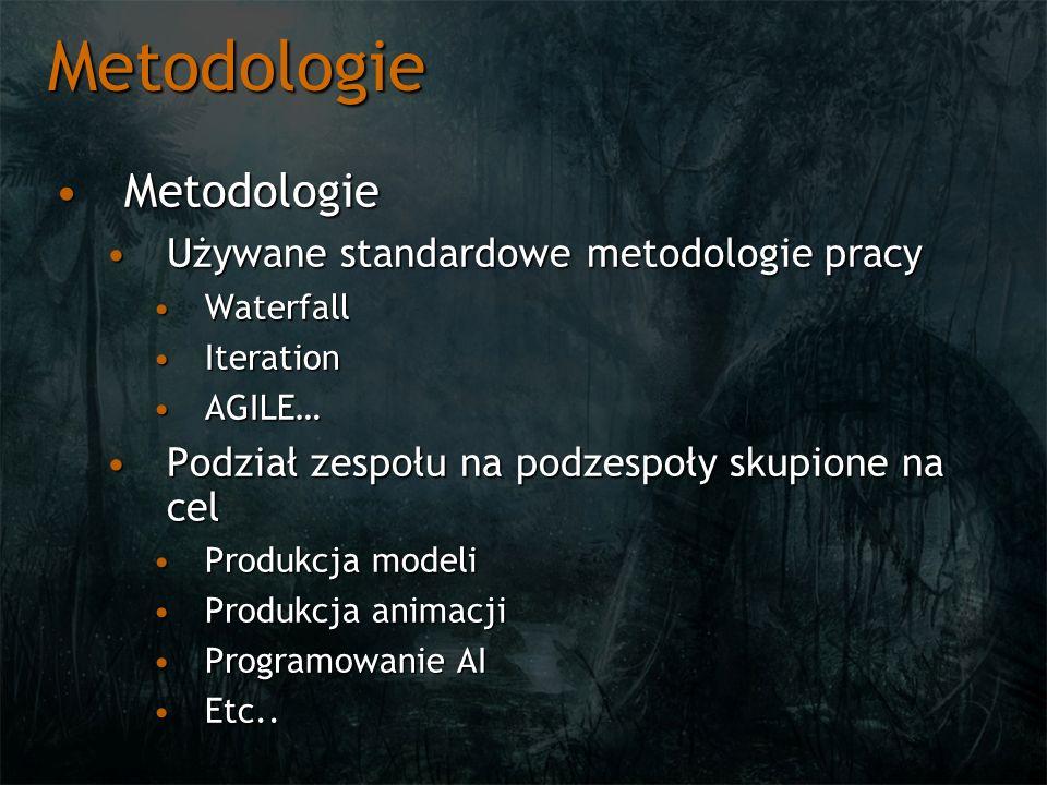 Metodologie Metodologie Używane standardowe metodologie pracy