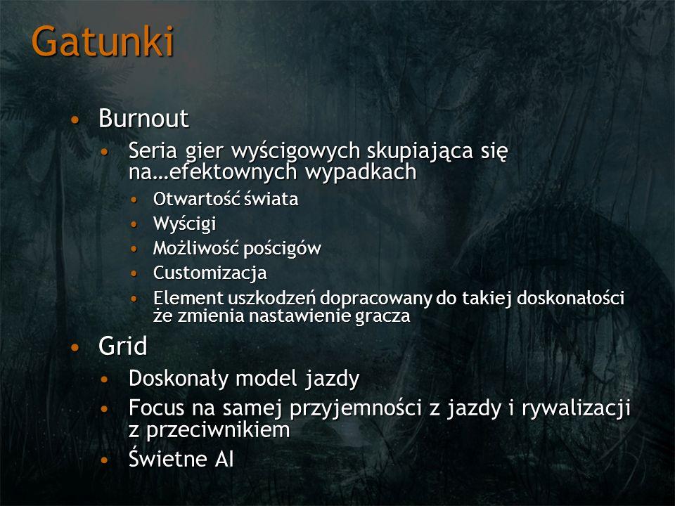 Gatunki Burnout. Seria gier wyścigowych skupiająca się na…efektownych wypadkach. Otwartość świata.