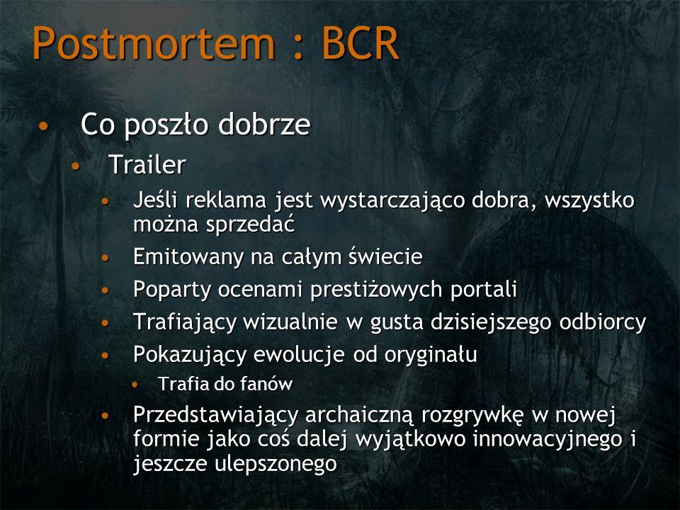 Postmortem : BCR Co poszło dobrze Trailer