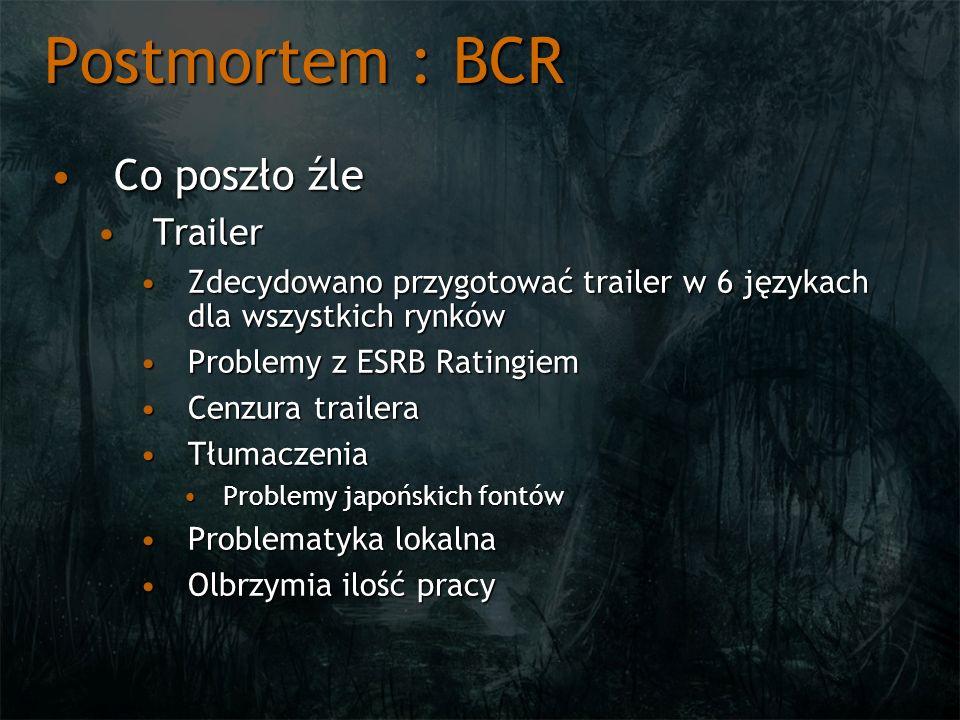 Postmortem : BCR Co poszło źle Trailer