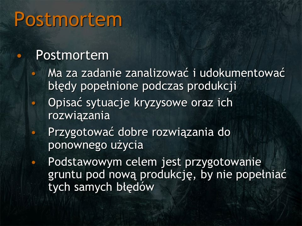Postmortem Postmortem