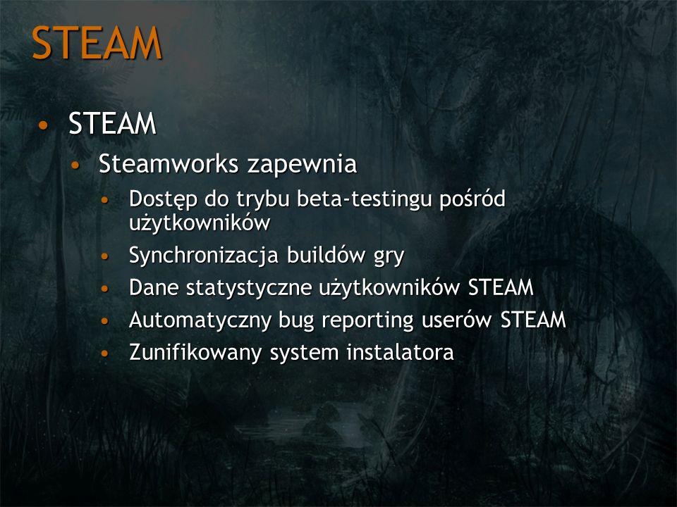 STEAM STEAM Steamworks zapewnia