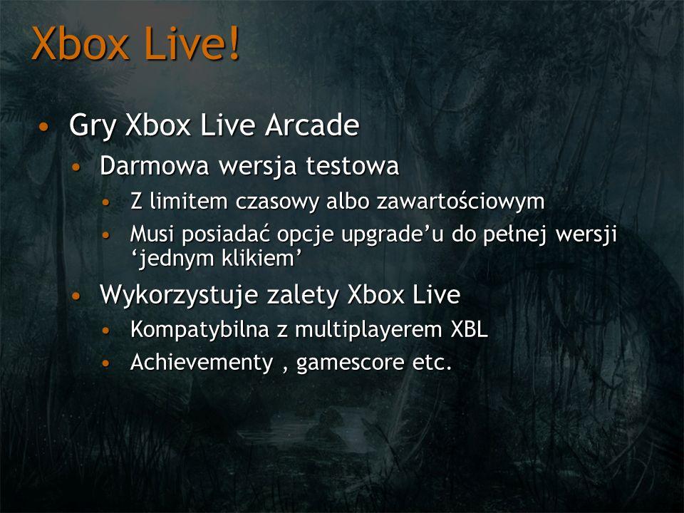 Xbox Live! Gry Xbox Live Arcade Darmowa wersja testowa