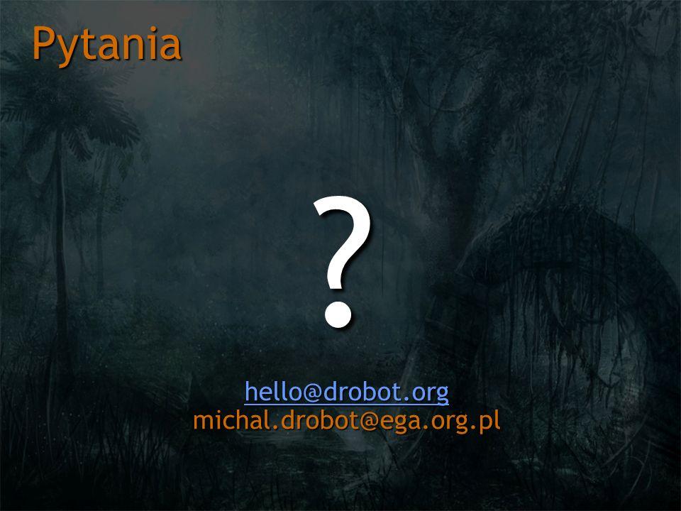 hello@drobot.org michal.drobot@ega.org.pl
