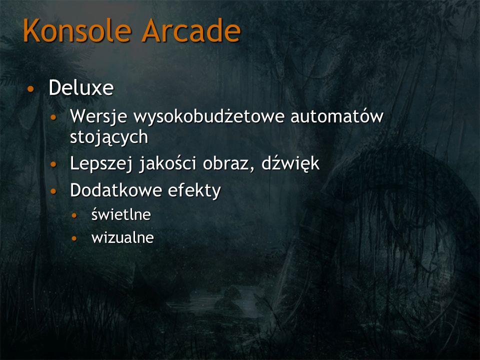 Konsole Arcade Deluxe Wersje wysokobudżetowe automatów stojących
