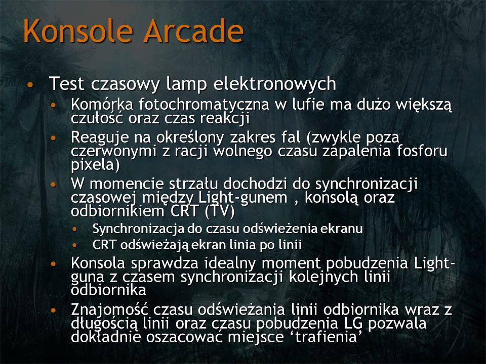 Konsole Arcade Test czasowy lamp elektronowych