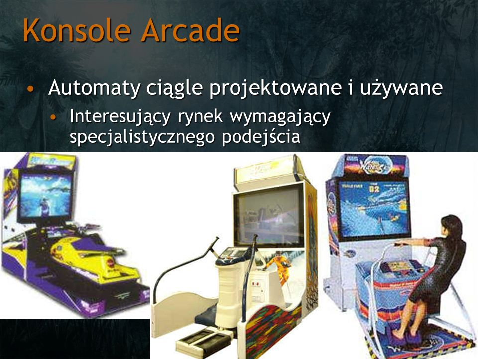 Konsole Arcade Automaty ciągle projektowane i używane