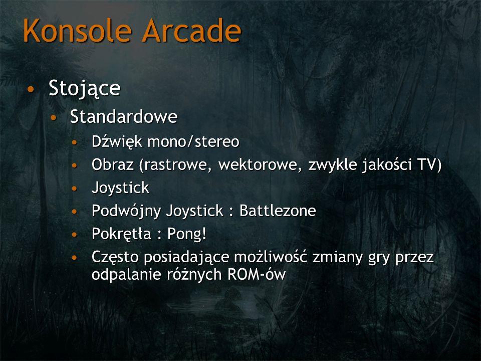 Konsole Arcade Stojące Standardowe Dźwięk mono/stereo