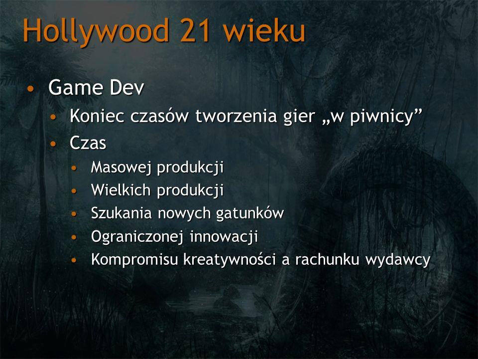 """Hollywood 21 wieku Game Dev Koniec czasów tworzenia gier """"w piwnicy"""