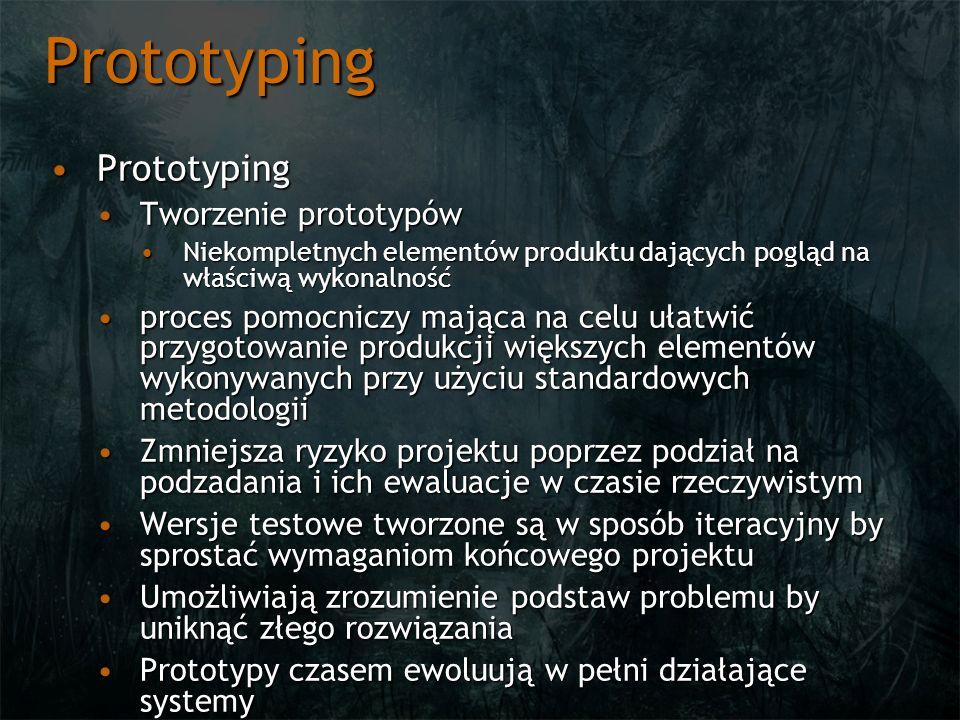 Prototyping Prototyping Tworzenie prototypów