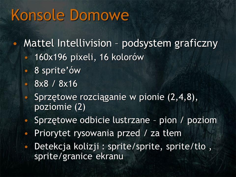 Konsole Domowe Mattel Intellivision – podsystem graficzny