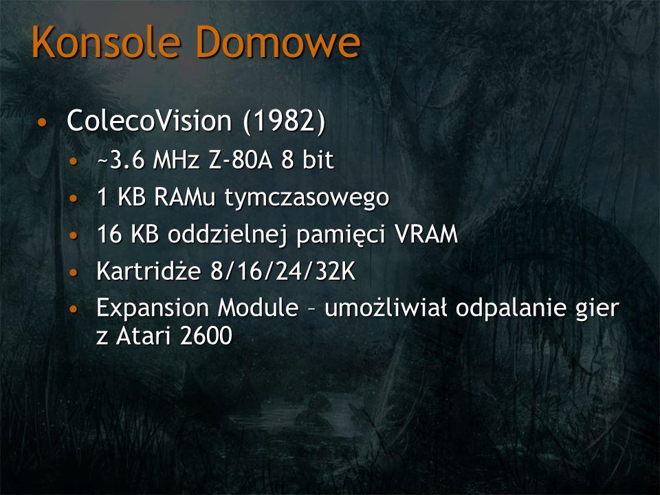 Konsole Domowe ColecoVision (1982) ~3.6 MHz Z-80A 8 bit