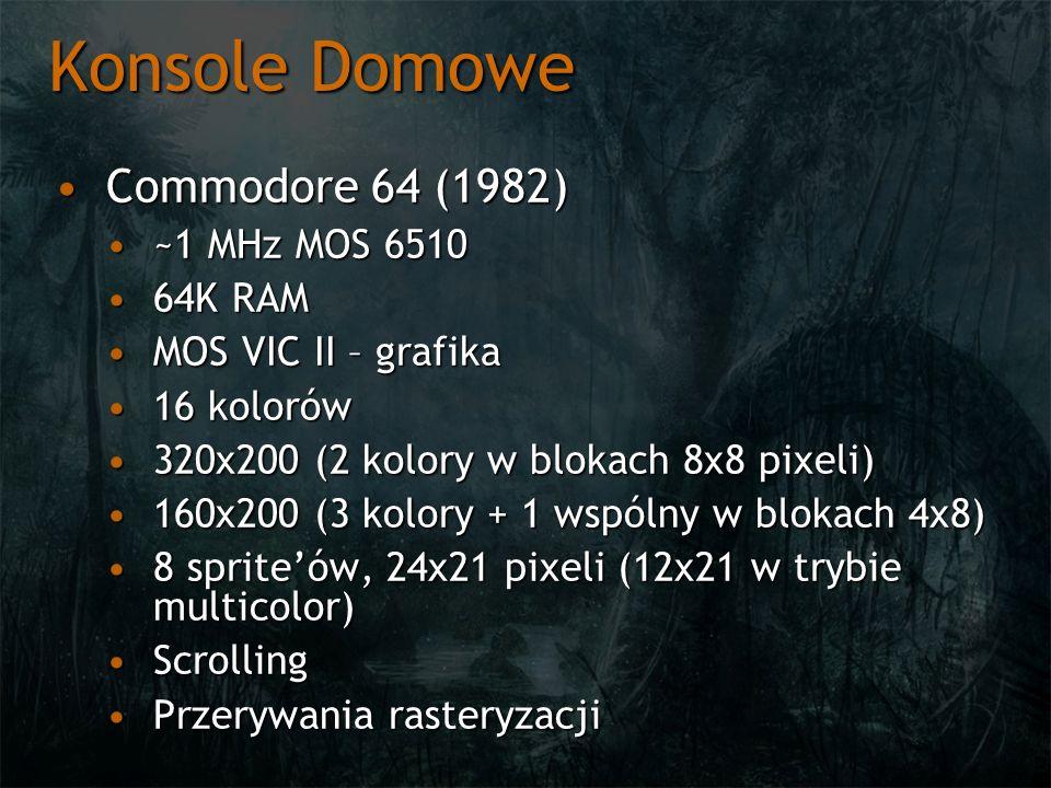 Konsole Domowe Commodore 64 (1982) ~1 MHz MOS 6510 64K RAM
