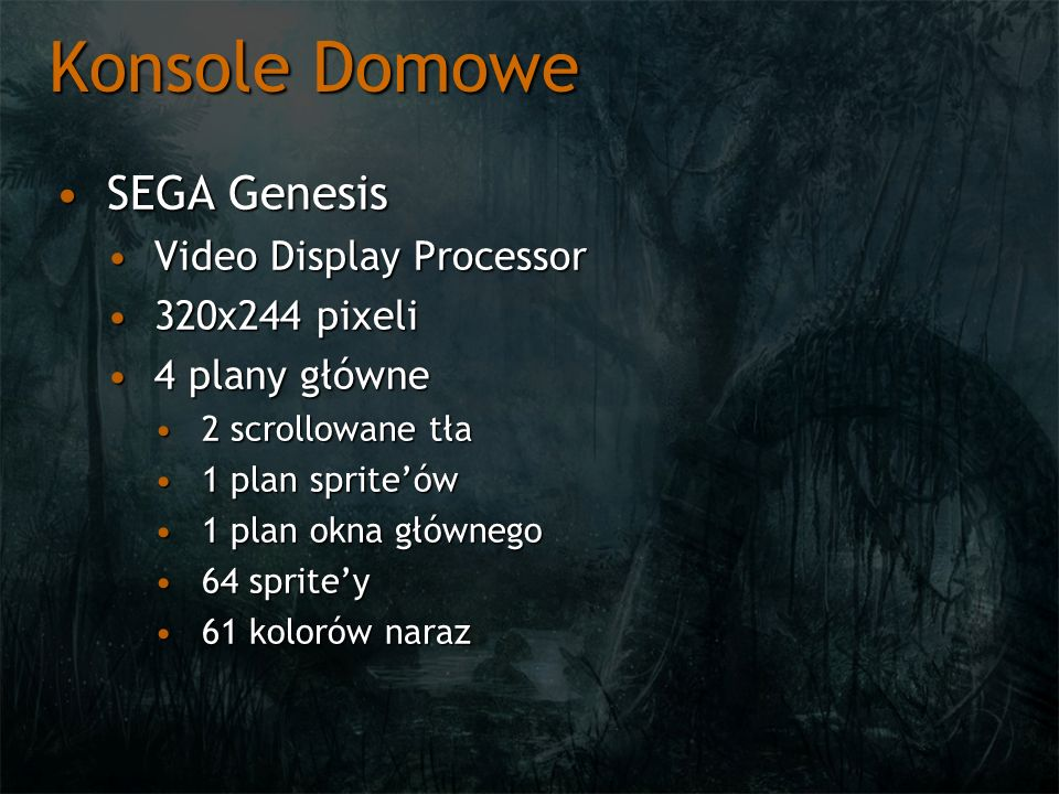 Konsole Domowe SEGA Genesis Video Display Processor 320x244 pixeli