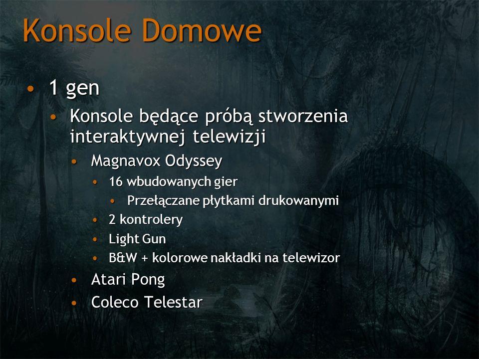 Konsole Domowe 1 gen. Konsole będące próbą stworzenia interaktywnej telewizji. Magnavox Odyssey. 16 wbudowanych gier.