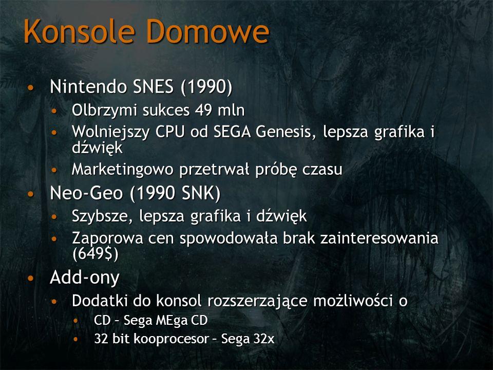Konsole Domowe Nintendo SNES (1990) Neo-Geo (1990 SNK) Add-ony