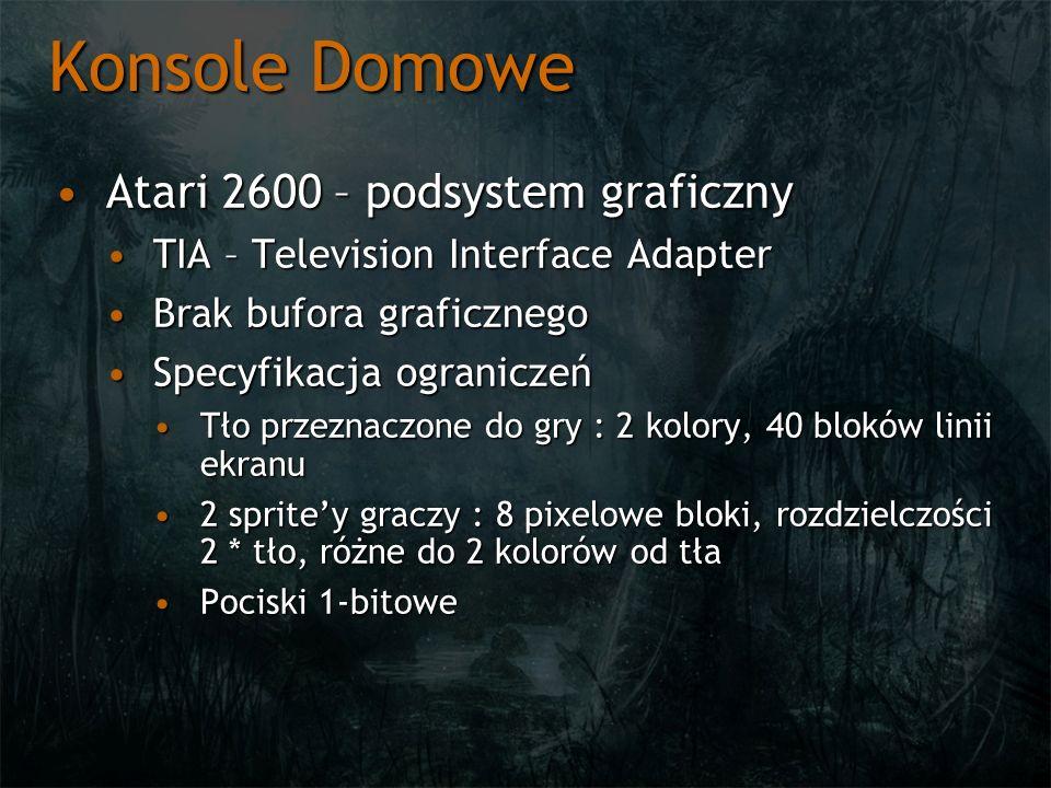 Konsole Domowe Atari 2600 – podsystem graficzny
