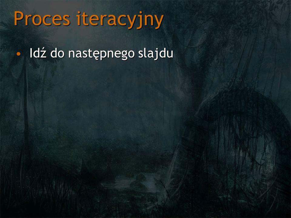 Proces iteracyjny Idź do następnego slajdu