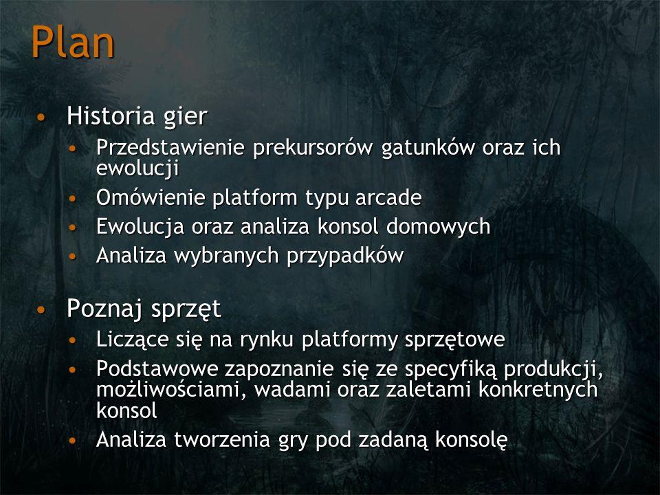 Plan Historia gier Poznaj sprzęt