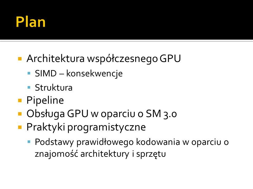 Plan Architektura współczesnego GPU Pipeline