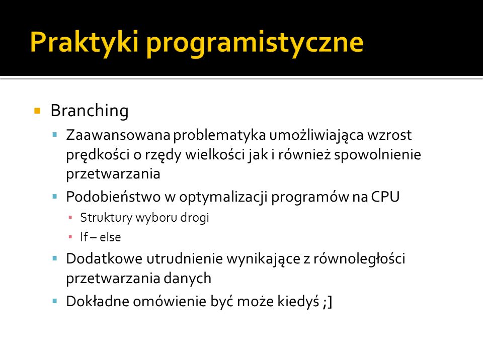 Praktyki programistyczne