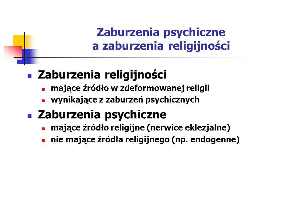 Zaburzenia psychiczne a zaburzenia religijności