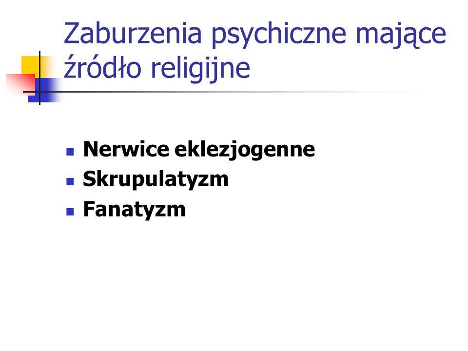 Zaburzenia psychiczne mające źródło religijne
