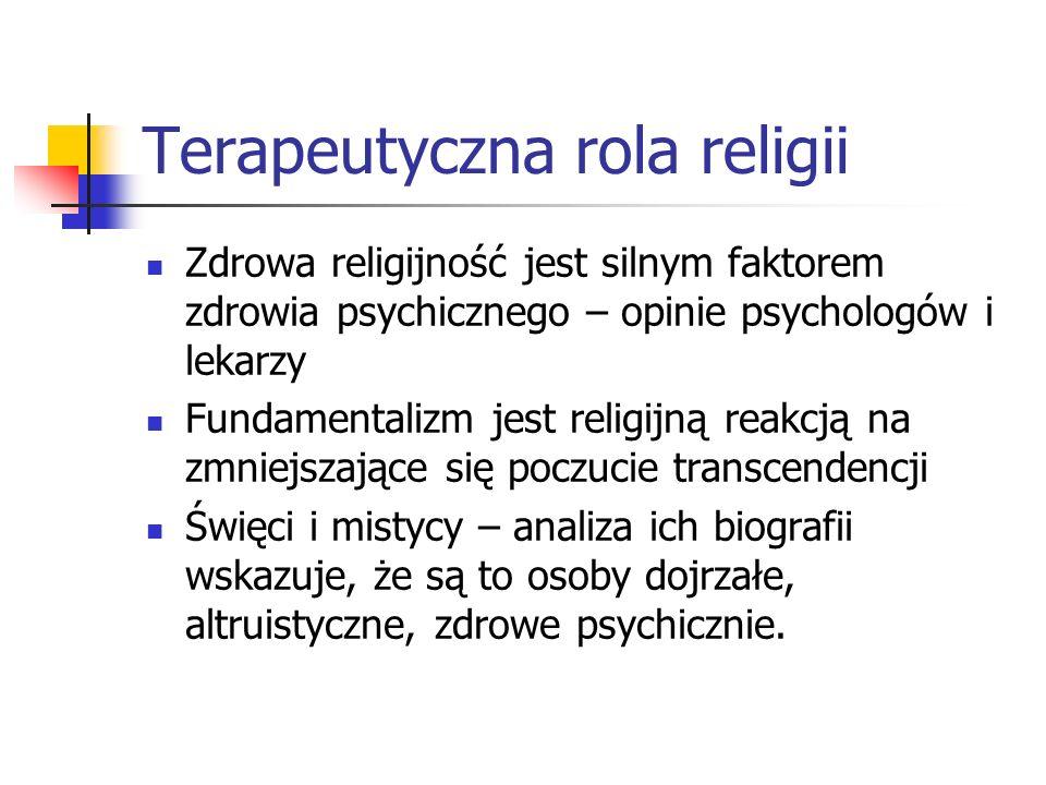 Terapeutyczna rola religii