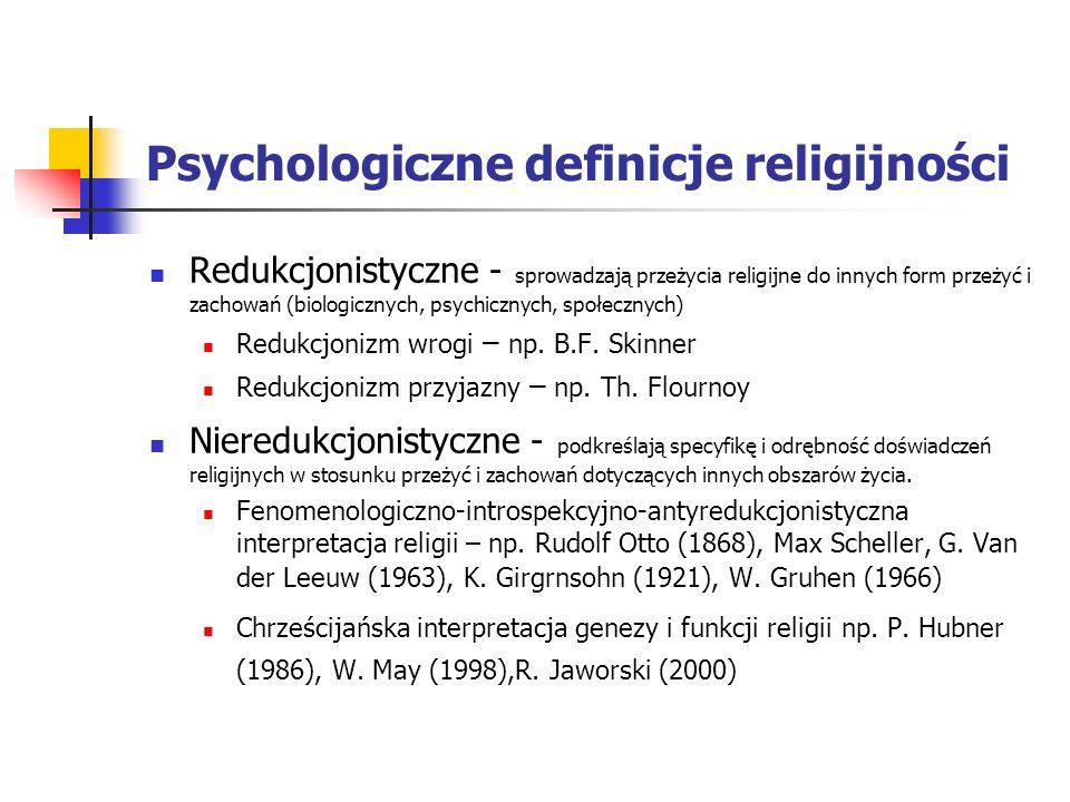 Psychologiczne definicje religijności