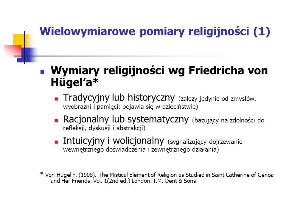 Wielowymiarowe pomiary religijności (1)