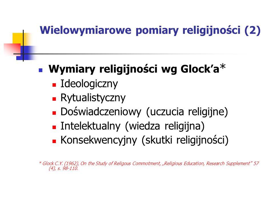 Wielowymiarowe pomiary religijności (2)