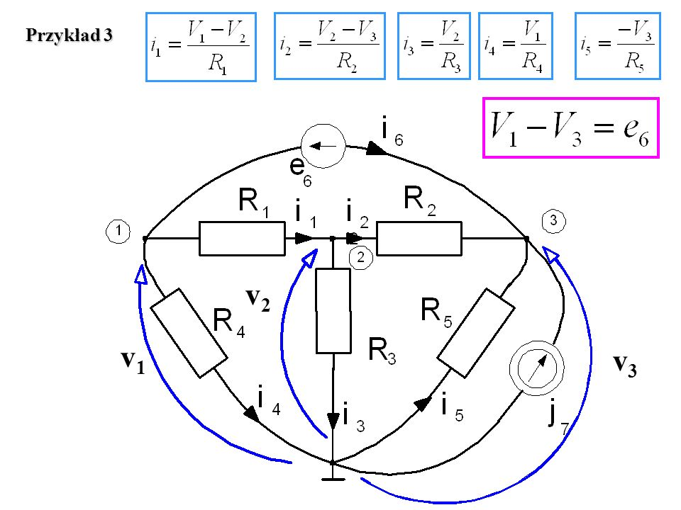 Przykład 3 v2 v1 v3