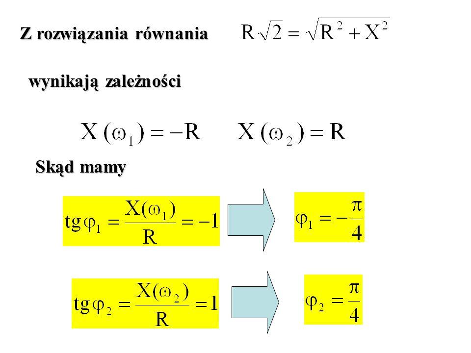 Z rozwiązania równania