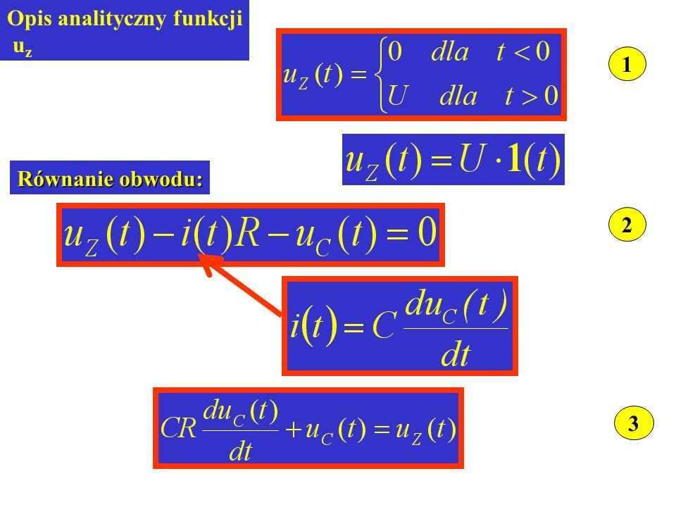 1 Opis analityczny funkcji uz 2 Równanie obwodu: 3
