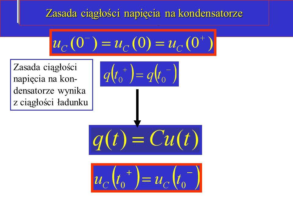 Zasada ciągłości napięcia na kondensatorze