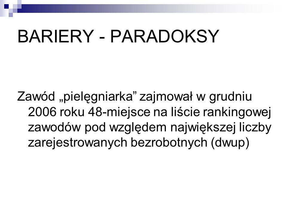 BARIERY - PARADOKSY