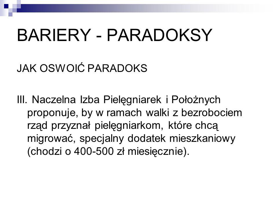 BARIERY - PARADOKSY JAK OSWOIĆ PARADOKS