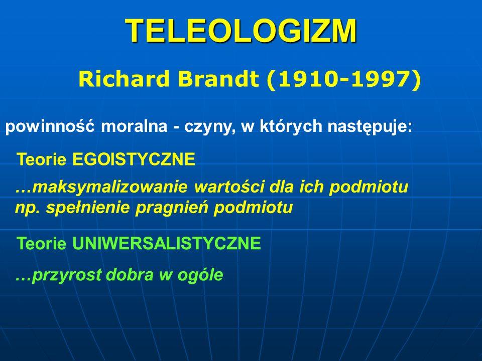 TELEOLOGIZM Richard Brandt (1910-1997)