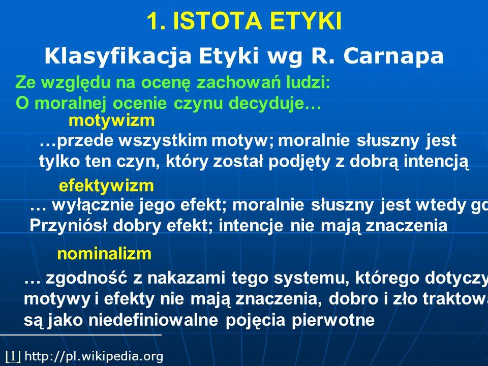 Klasyfikacja Etyki wg R. Carnapa