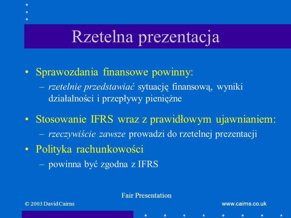 Rzetelna prezentacja Sprawozdania finansowe powinny: