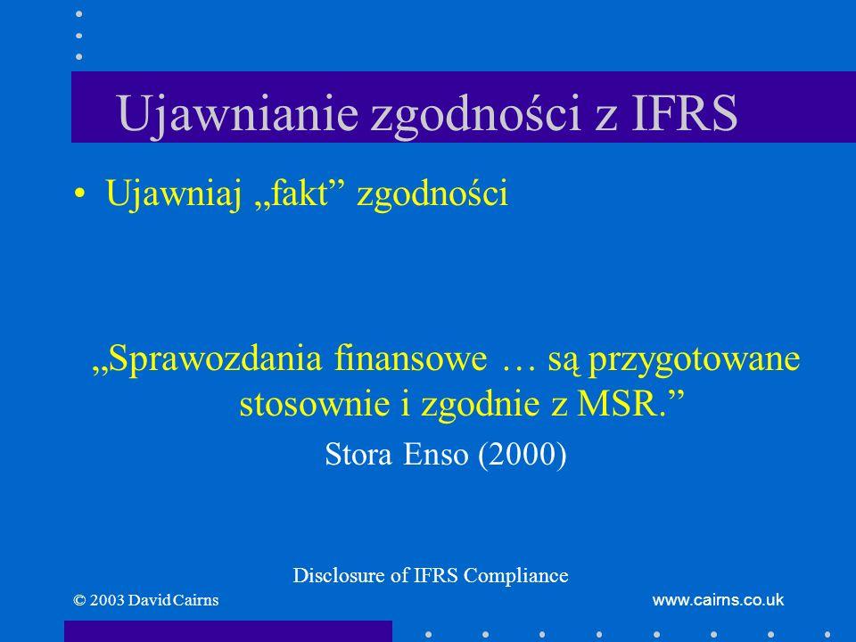 Ujawnianie zgodności z IFRS