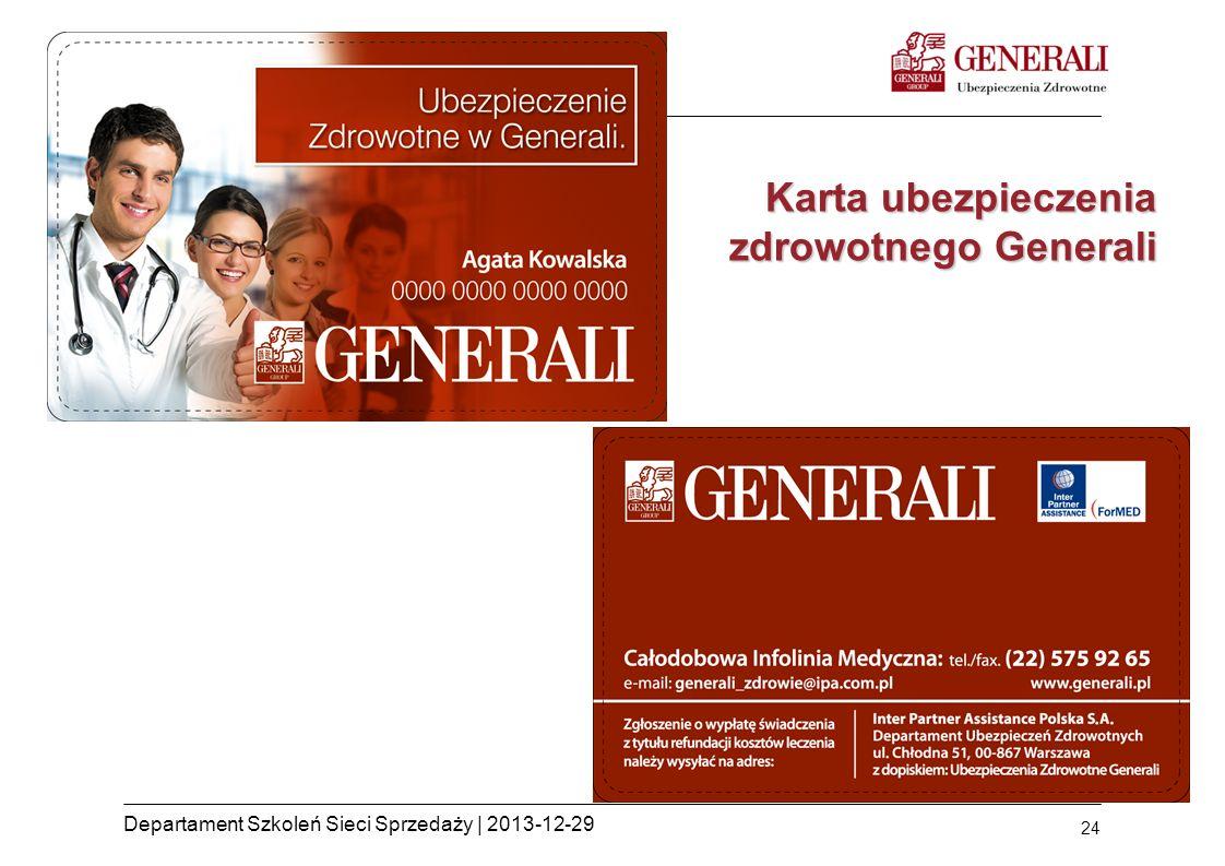 Karta ubezpieczenia zdrowotnego Generali