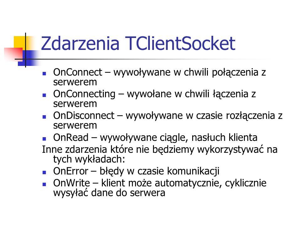 Zdarzenia TClientSocket