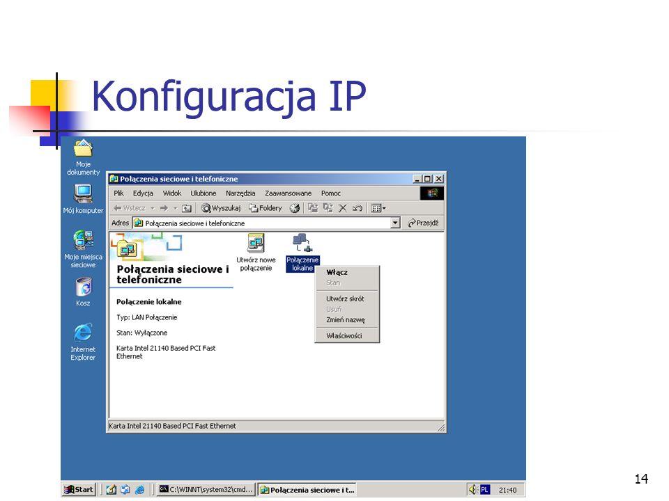 Konfiguracja IP