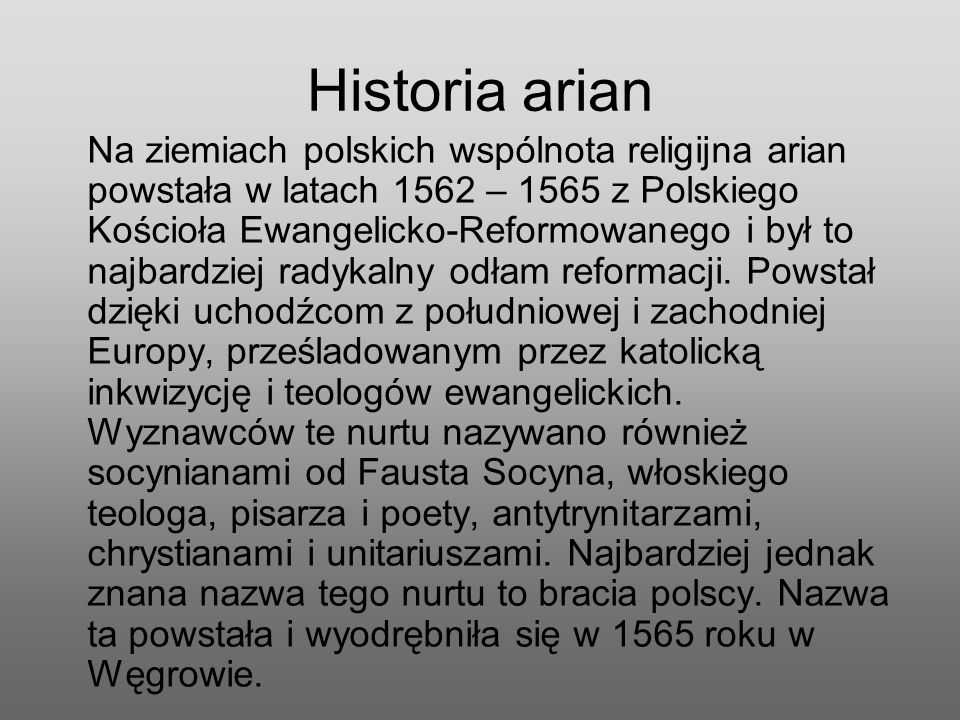 Historia arian