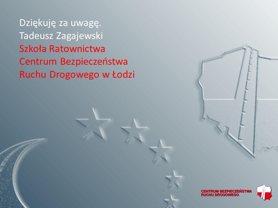 Dziękuję za uwagę. Tadeusz Zagajewski. Szkoła Ratownictwa.