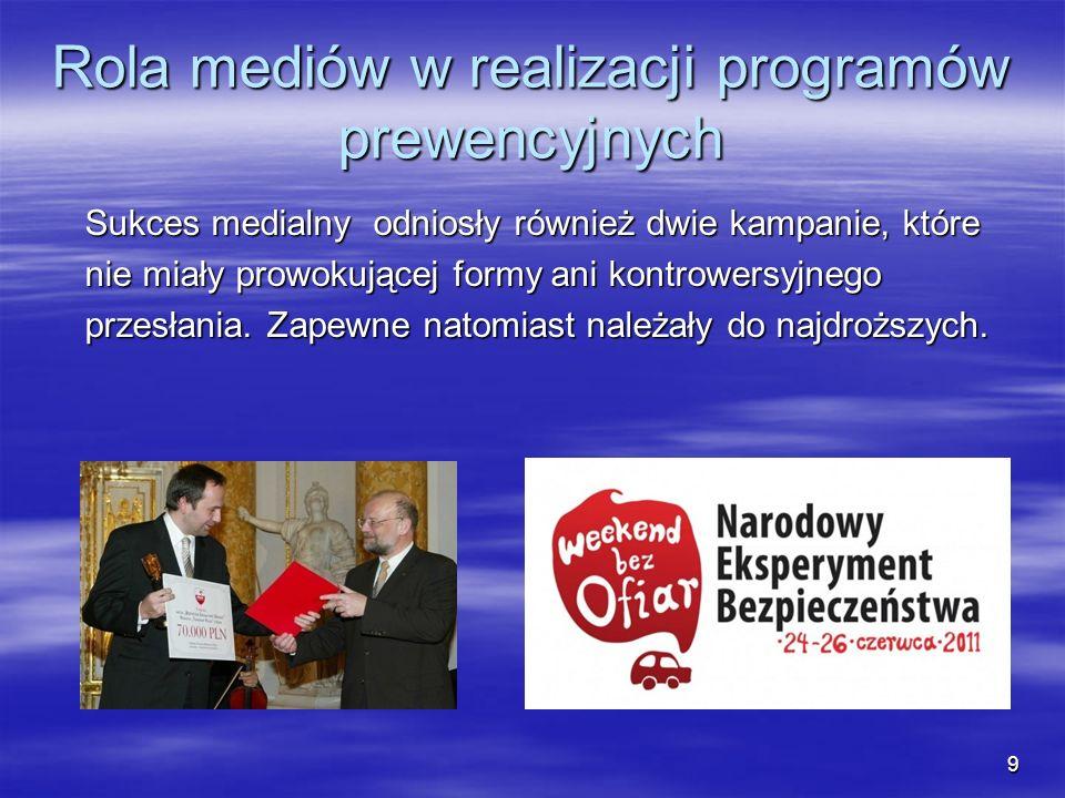 Rola mediów w realizacji programów prewencyjnych